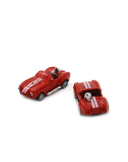 Mazura Kırmızı Yarış Arabası Kol Düğmesi