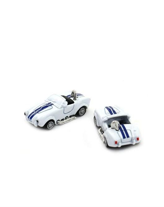 Mazura Beyaz Yarış Arabası Kol Düğmesi
