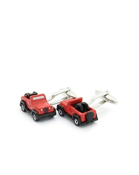 Mazura Kırmızı Jeep Kol Düğmesi