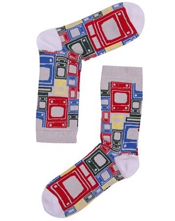 Desenli Çorap 745K