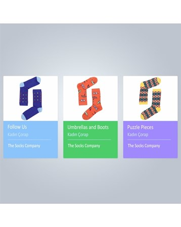 Kadın Çorap 3lü Paket 15KDCR818P