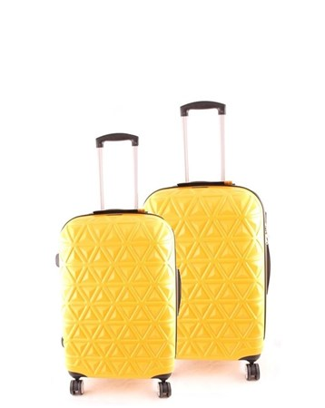 5156 Abs İkili Valiz Seti Sarı 2 ÇÇS