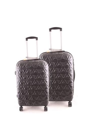 5156 Abs İkili Valiz Seti Siyah 2 ÇÇS