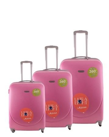 2022 Pembe Valiz Bavul Seti 2 Laguna