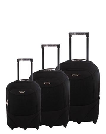 055 Siyah Valiz Bavul Seti 2 ÇÇS
