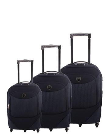 055 Lacivert Valiz Bavul Seti 2 ÇÇS