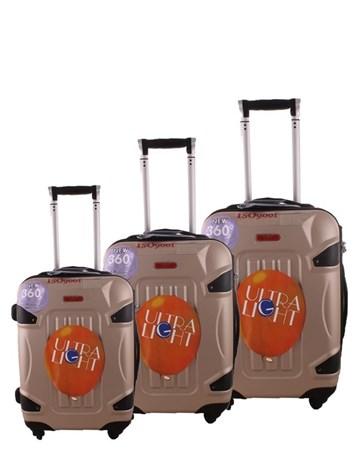 5118 Kırılmaz Şampanya Pvc Valiz Bavul Seti 2 ÇÇS