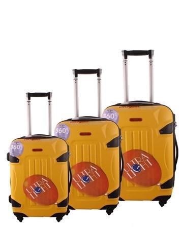 5118 Kırılmaz Sarı Pvc Valiz Bavul Seti 2 ÇÇS