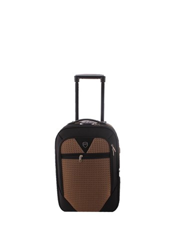 088 Kahve Bavul Orta Kumaş Valiz 2 ÇÇS