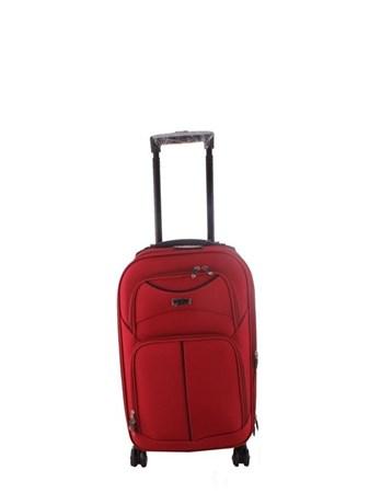 095 Kırmızı 8 Tekerlekli Büyük Kumaş Valiz 2 ÇÇS