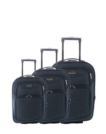 040 Çekçekli Kumaş Valiz Seti 2 ÇÇS
