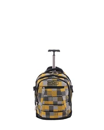 40143 Orta Sarı Çekçekli Seyahat Çantası 2 ÇÇS