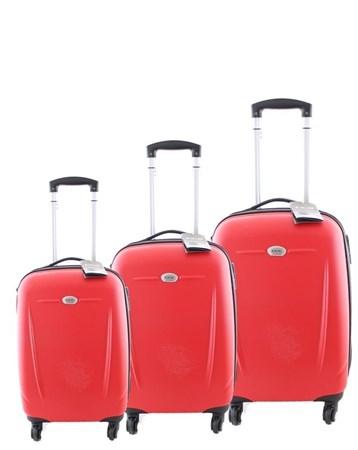 5132 Abs 3Lü Valiz Seti Kırmızı 2 ÇÇS