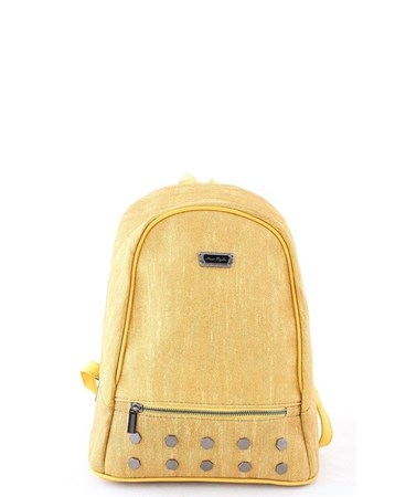 New Style 2604 Kadın Kot Desen Sırt Çantası Sarı 2