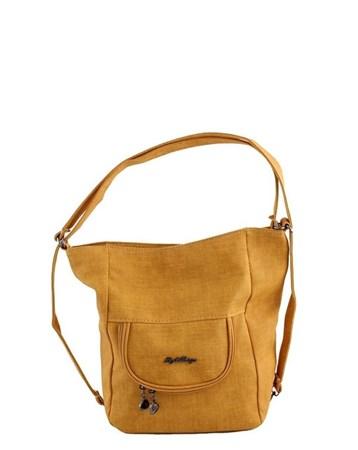 New Style 2619 Kumaş Kadın Omuz Ve Sırt Çantası Sarı 2
