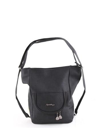 New Style 2619 Kumaş Kadın Omuz Ve Sırt Çantası Siyah 2