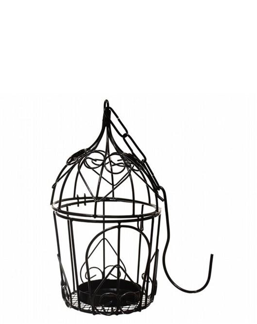 Decotown Metal Oval Mini Desenli Mumluk Kafes  Ob2632dk1006