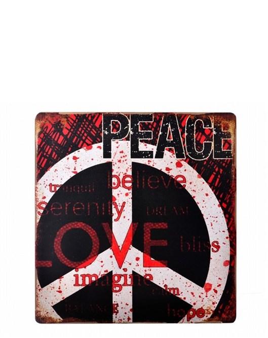 Decotown Love Ahşap Pano 40*40 (18131)  Pa2725dk1032