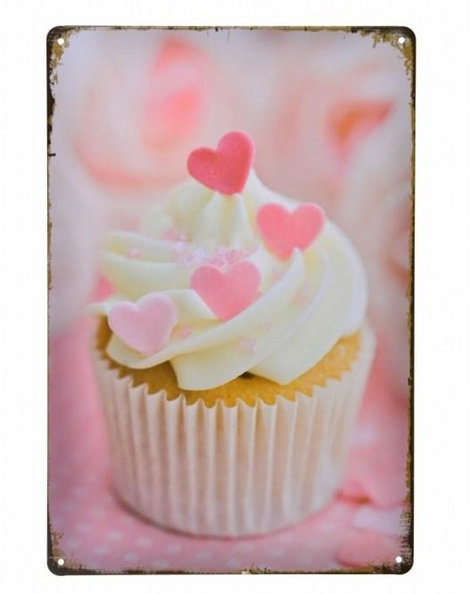 Decotown Beyaz Cup Cake Metal Levha 20*30-6172 Pa2749dk1025