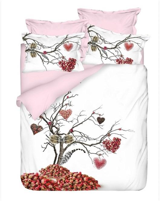 Colors Of Fashion Love Tree 3D Pamuk Saten Çift