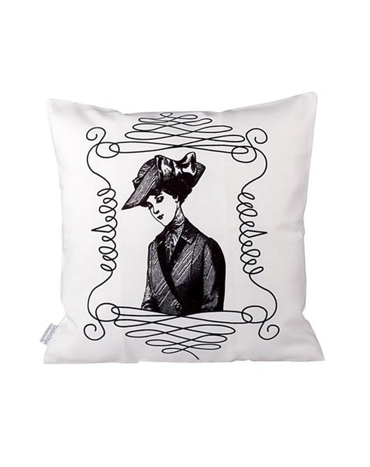 Cushion Design White Lady Yastık