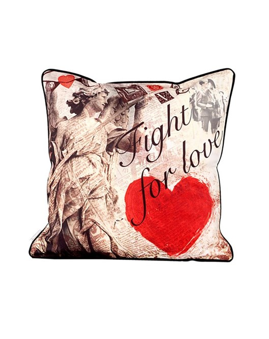 Cushion Design Retro Fight For Love Yastık