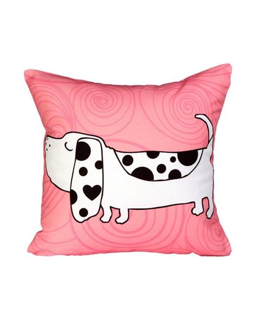 Cushion Design Lucky Animals Pink Dog Yastık