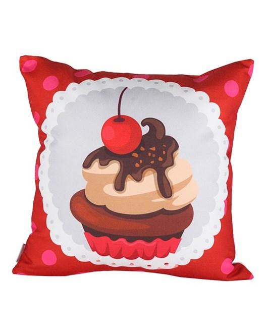 Cushion Design Cupcake Kırmızı Yastık