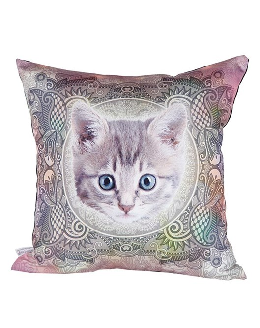 Cushion Design Cat Pembe Yastık