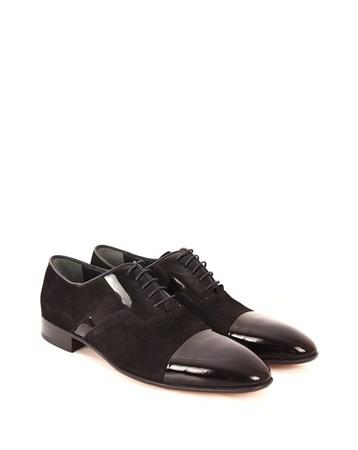 Gön Deri Erkek Ayakkabı 42230 Siyah Rugana Siyah Süet GÖN