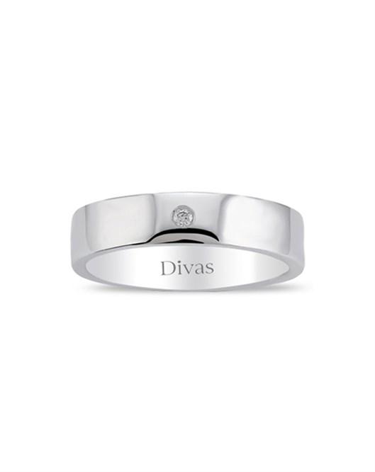 Divas Diamond Pırlanta Yüzük Gümüş