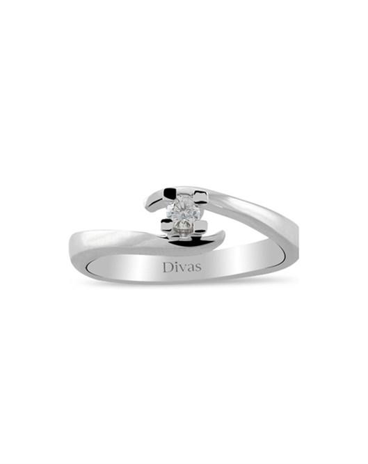 Divas Diamond 0,06 Karat Tektaş Pırlanta Yüzük