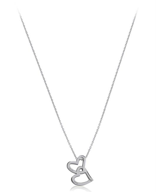 Divas Diamond İsimli Pırlanta İki Kalp Kolye