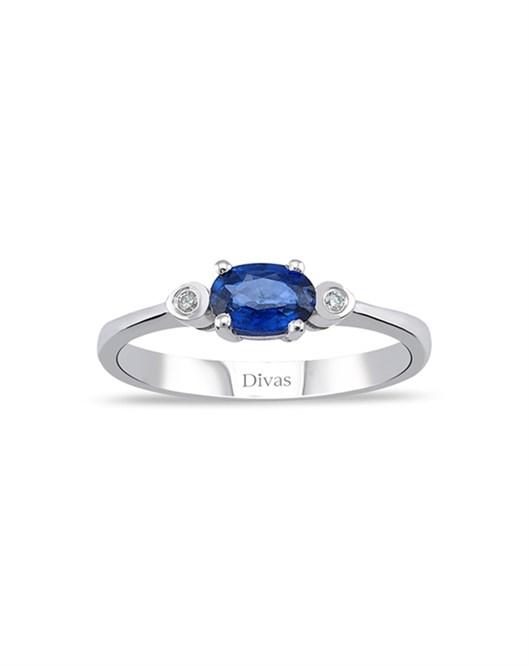 Divas Diamond Pırlantalı Safir Yüzük