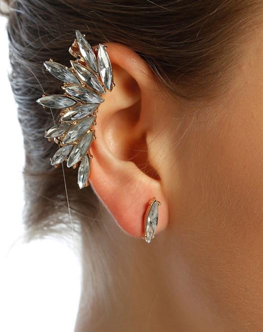 Damla Taşlı Ear Cuff E34