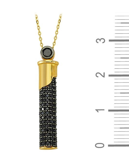Altın Çubuk Figürlü Kolye DTR30110