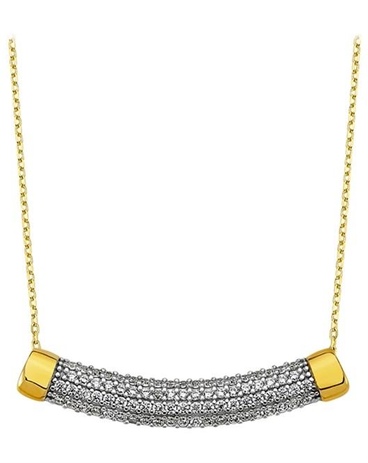 Altın Zirkon Taşlı Kolye DTR30140