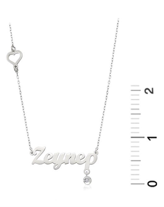 Diva Gümüş İsim Kolye FN30022