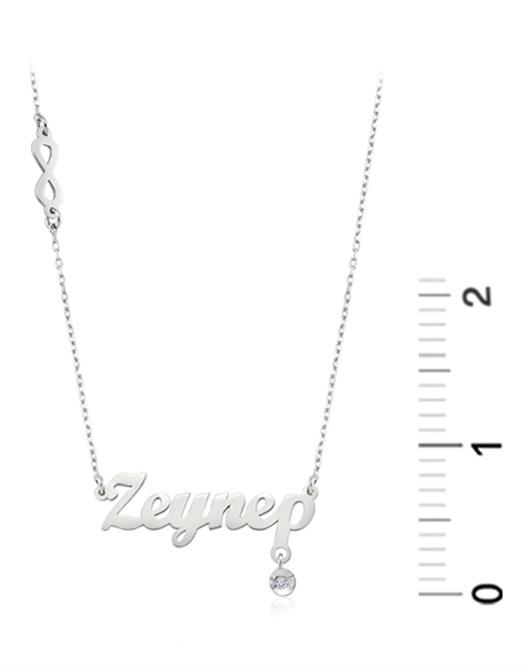 Diva Gümüş İsim Kolye FN30032