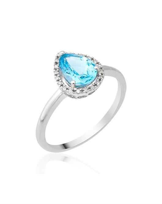Diva Pırlanta Swiss Blue Yüzük KR010022