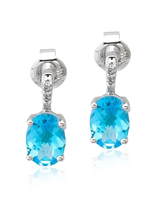 Diva Pırlanta Swiss Blue Küpe KR020072