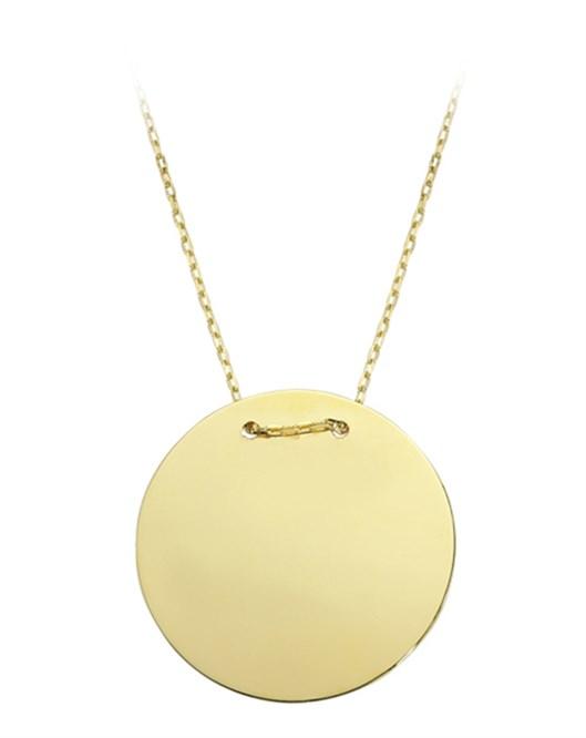 Diva Pırlanta Altın Plaka Kolye M030252