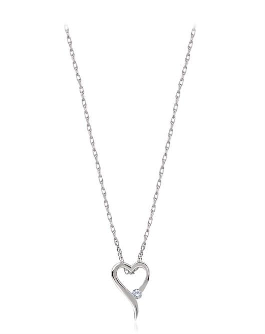 Divas Pırlantalı Kalp Beyaz Altın Kolye DVS369120