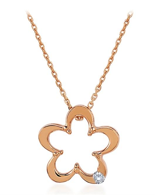 Divas Pırlantalı Altın Çiçek Kolye DVS383233