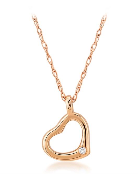 Divas Altın Pırlantalı Kalp Kolye DVS408303