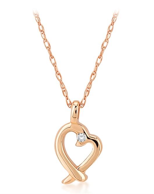 Divas Altın Pırlantalı Kalp Kolye DVS408305
