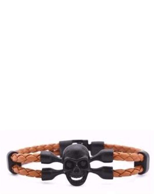 Yeni Model Örgülü Kahverengi Deri Halat Siyah Kurufa Bileklik Moda Bileklikler 2016 1152
