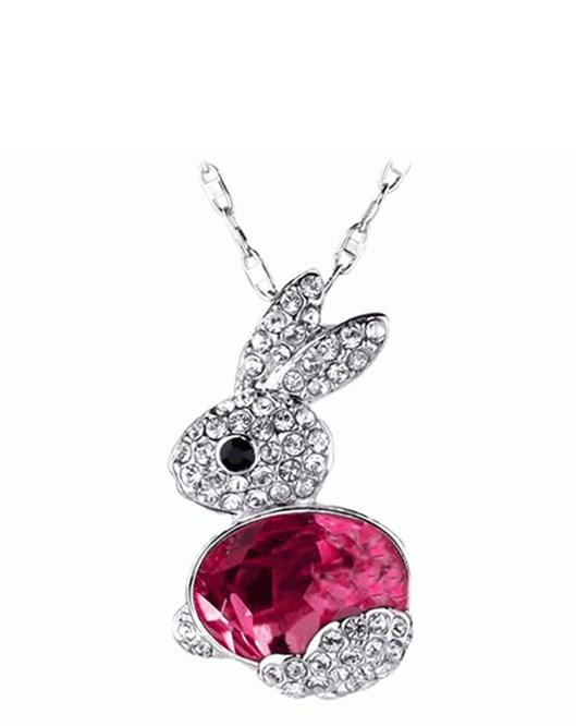 Yeni Sezon Kadın Moda Küçük Kırmızı Tavşan Kolye Takı Aksesuar 363
