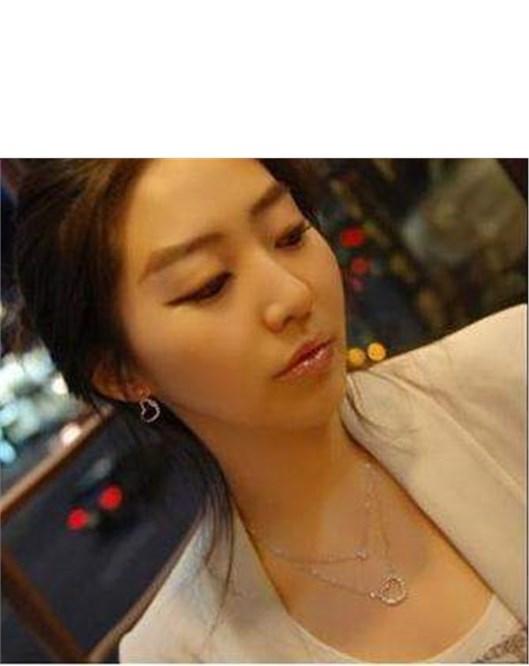 Kore Tasarım Kolye Moda Çift Kalp 2Li Kolye Güzel Hediyeler 779