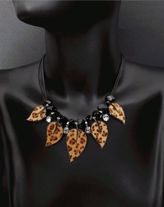 Moda Takı Katmanlı Deri Zincir Bohemia Leopard Kolye Bayanlar İçin 821
